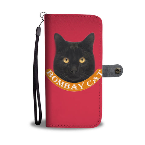 Cute Bombay Cat Print Wallet Case-Free Shipping