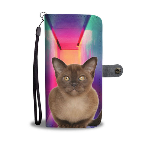 Burmese Cat Print Wallet Case- Free Shipping