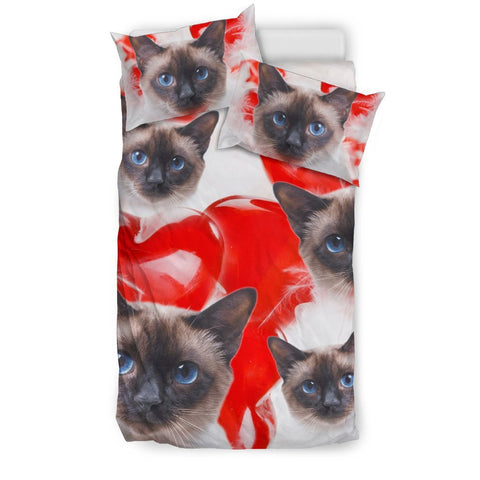 Cute Siamese Cat Print Bedding Set- Free Shipping