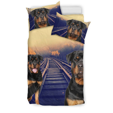 Rottweiler Dog Print Bedding Set- Free Shipping