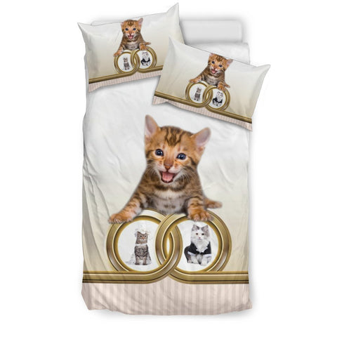 Cute Bengal Cat Print Bedding Set-Free Shipping