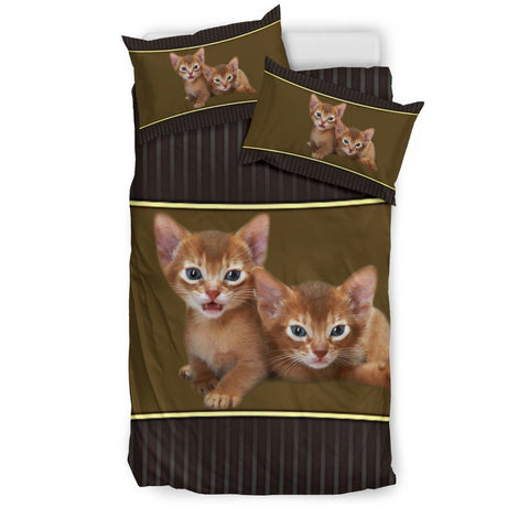 Cute Abyssinian Cat Print Bedding Set-Free Shipping