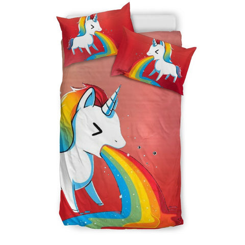 Rainbow Unicorn Print Bedding Sets-Free Shipping