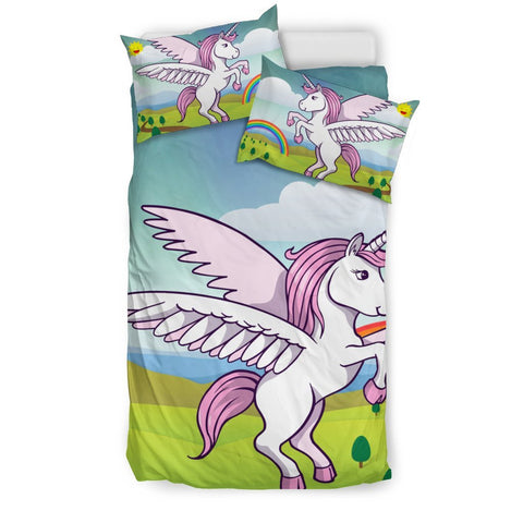Cute Unicorn Print Bedding Sets-Free Shipping