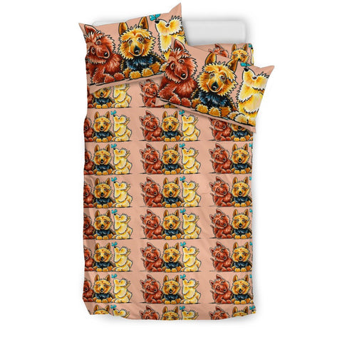 Australian Terrier Dog Art Print Bedding Sets- Free Shipping