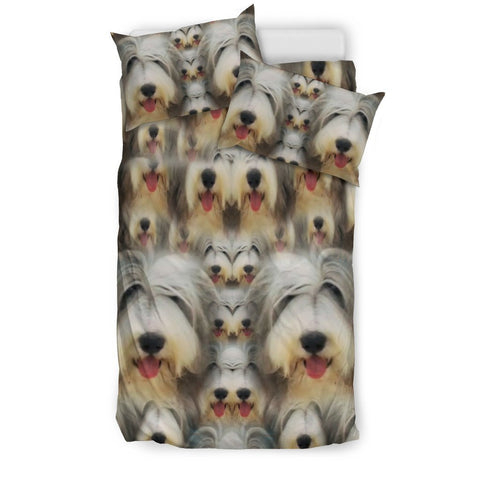 Bearded Collie In Lots Print Bedding Sets-Free Shipping