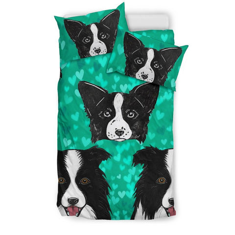 Border Collie Dog Art Print Bedding Set-Free Shipping