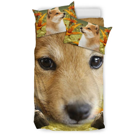 Cute Shiba Inu Dog Print Bedding Set- Free Shipping