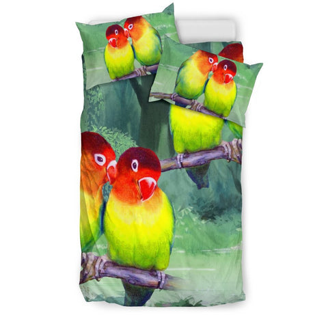 Beautiful Love Birds Print Bedding Set-Free Shipping