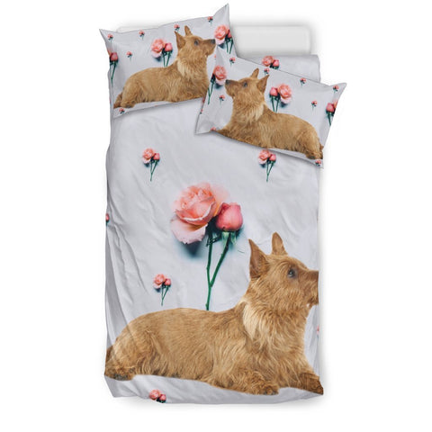 Australian Terrier dog Floral Print Bedding Sets-Free Shipping