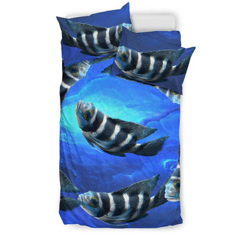 African Cichlid Fish Print Bedding Set-Free Shipping