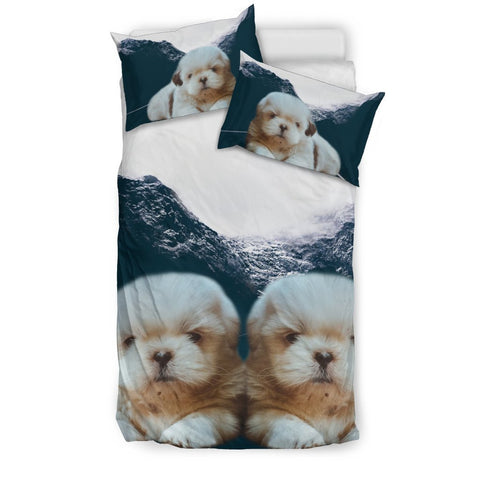 Cute Shih Tzu Dog Print Bedding Sets-Free Shipping