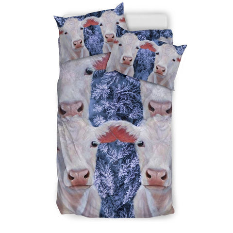 Beautiful Charolais Cattle (cow) Print Bedding Set-Free Shipping