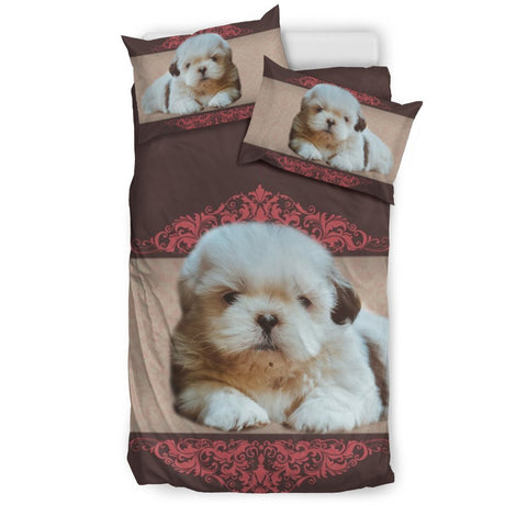 Lovely Shih Tzu Dog Print Bedding Sets-Free Shipping