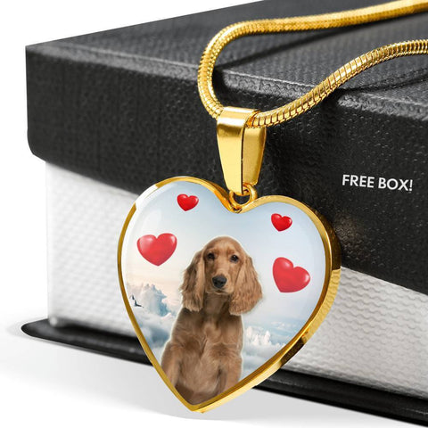 English Cocker Spaniel Print Luxury Necklace-Free Shipping