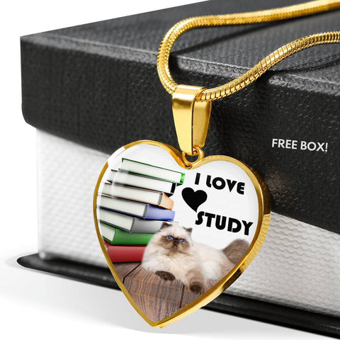 Himalayan Cat Heart Pendant Luxury Necklace-Free Shipping