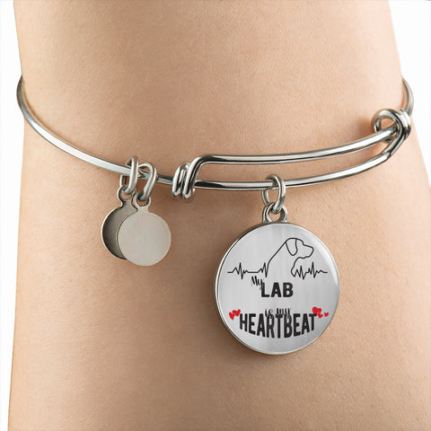 My LAB is my Heartbeat Personalized Dog Lover Jewelry