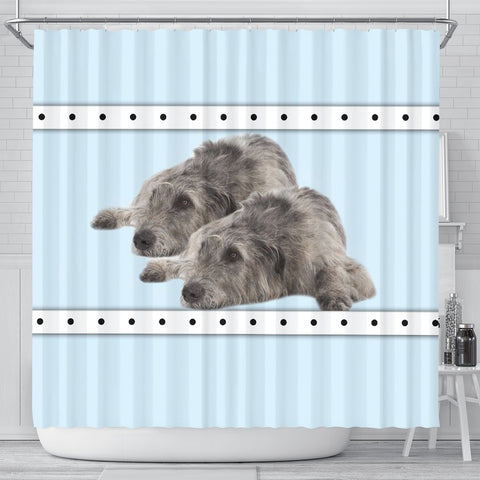 Irish Wolfhound Dog Print Shower Curtain-Free Shipping