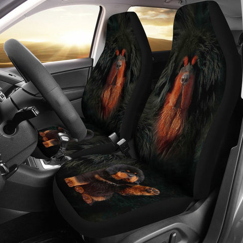 Tibetan Mastiff Dog Print Car Seat Covers-Free Shipping