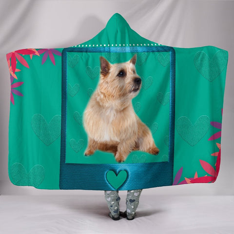 Norwich Terrier Dog Print Hooded Blanket-Free Shipping