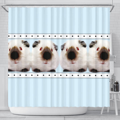 Himalayan guinea pig Print Shower Curtain-Free Shipping