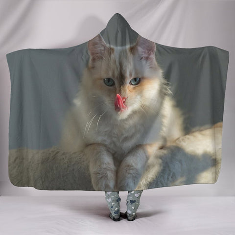 Birman Cat Print Hooded Blanket-Free Shipping