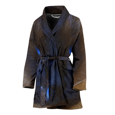 Siamese Cat Print Women's Bath Robe-Free Shipping