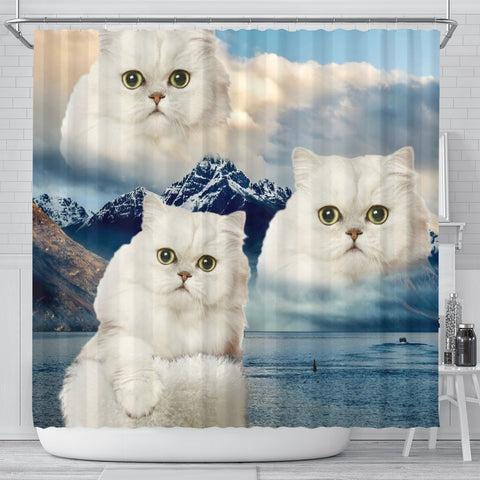 Lovely Persian Cat Shower Curtains-Free Shipping