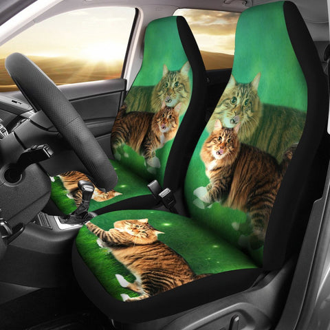 Lovely American Bobtail Cat Print Car Seat Covers- Free Shipping