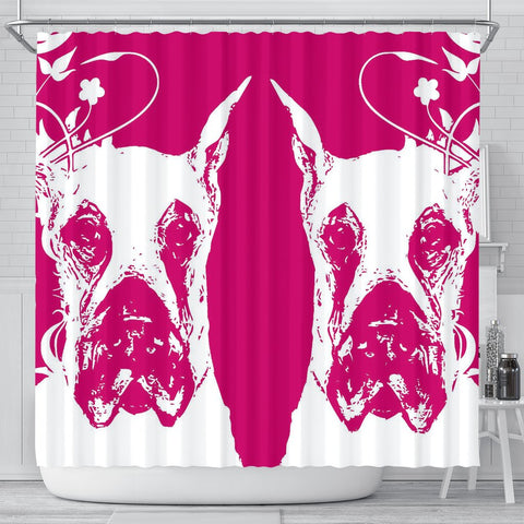 Great Dane Dog Print Shower Curtain-Free Shipping