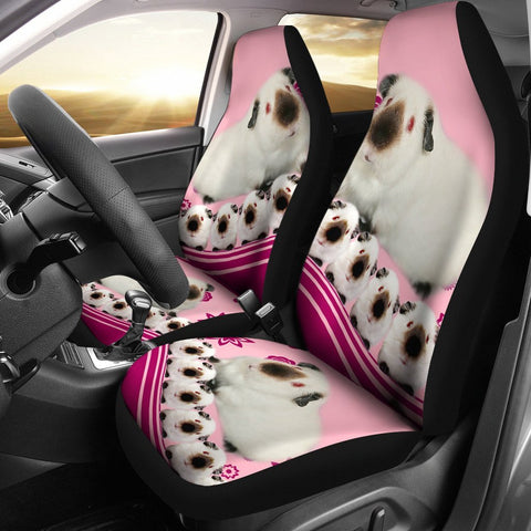 Cute Himalayan guinea pig Print Car Seat Covers-Free Shipping