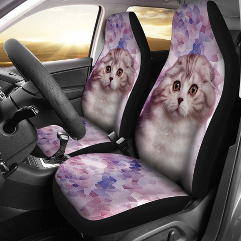 Cute Scottish Fold Cat Print Car Seat Covers-Free Shipping