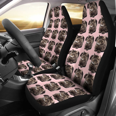 Maine Coon Cat Pattern Print Car Seat Covers-Free Shipping