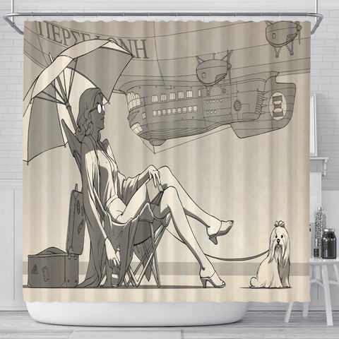 Lazy Dog Day Shower Curtain