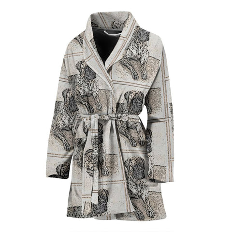 English Mastiff Patterns Print Women's Bath Robe-Free Shipping