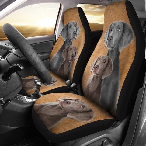 Cute Weimaraner Dog Print Car Seat Covers-Free Shipping
