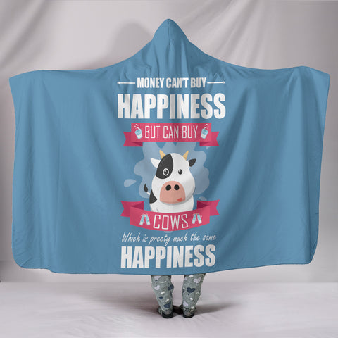Happiness Cow Hoodie Blanket
