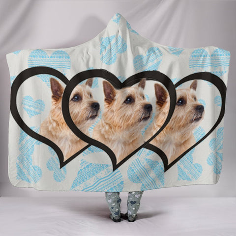 Norwich Terrier Print Hooded Blanket-Free Shipping