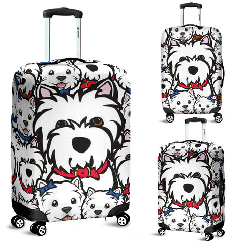 Cute Westie Luggage Covers