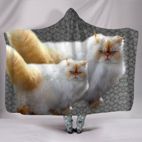 Himalayan Cat Print Hooded Blanket-Free Shipping