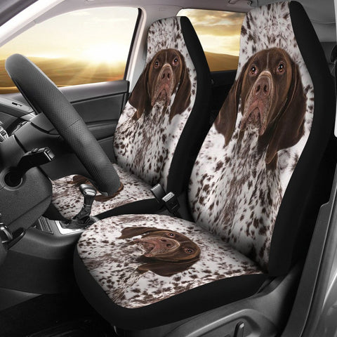 German Shorthaired Pointer Dog Print Car Seat Covers-Free Shipping
