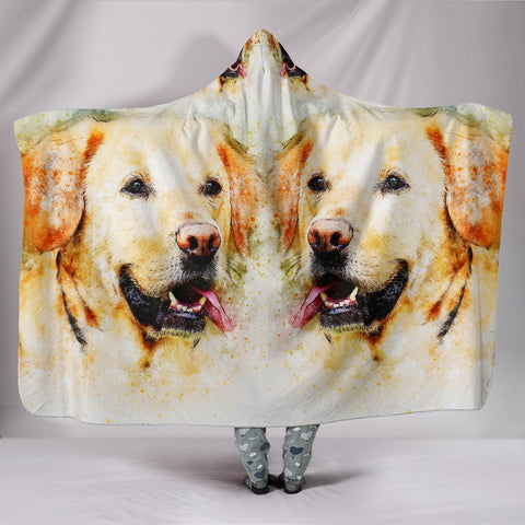Labrador Retriever Dog Art Print Hooded Blanket-Free Shipping