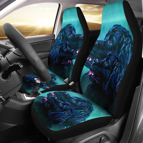 Newfoundland Dog Art Print Car Seat Covers-Free Shipping