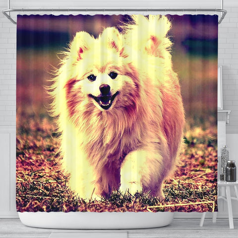 Cute Pomeranian Dog Art Print Shower Curtains-Free Shipping