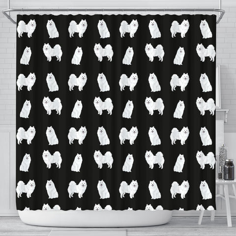 American Eskimo Dog Pattern Print Shower Curtains-Free Shipping