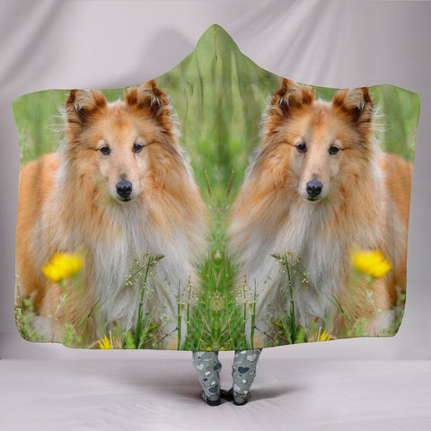Shetland Sheepdog Art Print Hooded Blanket-Free Shipping