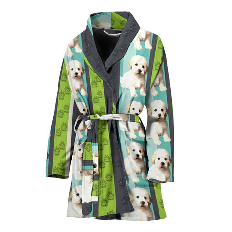 Shih-Poo Dog Patterns Print Women's Bath Robe-Free Shipping