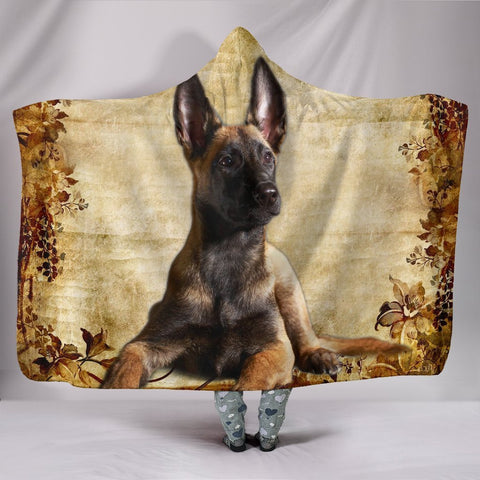 Cute Malinois Dog Print Hooded Blanket-Free Shipping