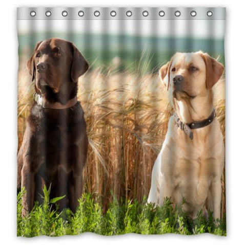 Cute Labrador Retrievers Shower Curtain