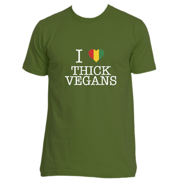 I Love Thick Vegans Unisex Crew Neck with Balanta Colors and White Design